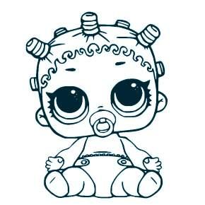 Раскраски ЛОЛ Малышки-сестрички. Куклы малышки - Раскраскина